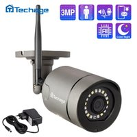 Sistemler Techage 3MP Kablosuz IP Kamera AI Açık Su Geçirmez Güvenlik Ses WiFi CCTV Sistemi Kiti Için İki Yönlü
