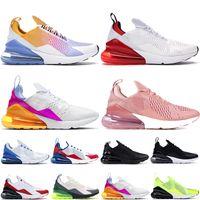 Nike Air Max 270 Top Quality 270S Sport Sneakers Mens Running Shoes Estate Gradient Platinum Volt triple Black Women 27C allenatori sportivi Sneakers