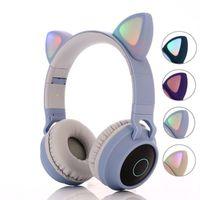 Cat Ear LED беспроводной Bluetooth наушники Bluetooth 5,0 Дети Наушники светящейся гарнитура Gaming наушники для ПК