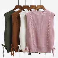 Sweater vest female spring and autumn college style Korean version 2020 new wave waistcoat sleeveless sweater wool student vest