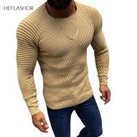 Sweaters pour hommes Homme Hommes Mode Pull tricoté Mâle Couleur Solide Couleur O-Colfs Pull à manches longues Printemps Hiver Slim Fit Casual Casual