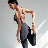 Backless Sexy Sport Suit Yoga Set Fitness Jumpsuit Sportswea...