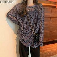 WERUERUYU Frauen-Strand-Kimono-Leopard druckte Vertuschungen Cardiwrap Bademode Damen Sonnenschutz Kleid Mode Chiffon Dünne