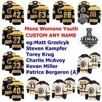 2019 Stanley Cup Final Boston Bruins Jerseys Danton Heinen Jersey Kuhlman Krejci Kuraly Lindholm Ice Hockey Jerseys Womens Custom Stitiched
