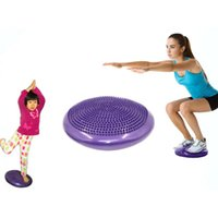 PVC نفخ اليوغا موازنة سماكة الكرة الوسادة التدريب وسادة الاستقرار قرص لينة مرنة الشرب ممارسة الرياضة للياقة البدنية