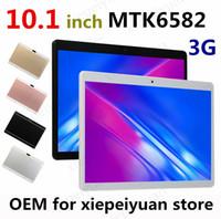 2021 고품질 Octa 코어 10 인치 타블렛 MTK6582 IPS 용량 성 터치 스크린 듀얼 SIM 3G 전화 PC Android 8.0 4GB 64GB
