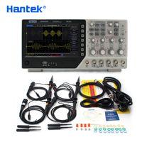 Hantek Oficial del osciloscopio digital de 4 canales DSO4254C 250Mhz LCD PC portátil USB función gama osciloscopios + EXT + DVM + Auto