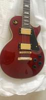 مخصص مصنع الجملة البيع المباشر LP مخصص النبيذ الأحمر الغيتار الكهربائي، جودة الصوت، الماهوجني الأعلى، روزوود الأصابع، الماهوجني الخلفية