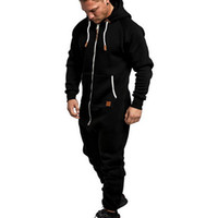 vertive 남자 원피스 세트 순수한 컬러 splicing 까마귀 jumpsuit 캐주얼 인쇄 스웨이트 zip 탑 느슨한 바지 체육관 실행 세트