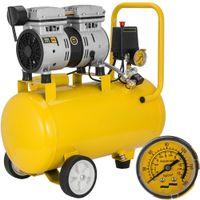 Nieuwe aankomst 24L Silent Air Compressor Whisper Compressor Oil Free 600W 8Bar Draagbare Mobile Makkelijk te gebruiken