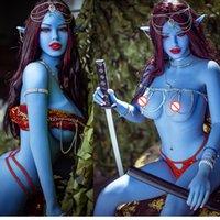 158cm avatar bleu peau elfe sexydoll avatar poupées américaines anime adultes jouets pour homme dans les magasins de sexe poupée masturbator avec elfe oreilles