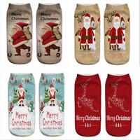Calzini molli di Natale 3D ha stampato il modello di Babbo Natale Elk Emoticons uomini e donne inverno tenere in caldo calzini svegli regalo di Natale LJJP395