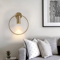 Noridic Designer Wholesale Minimalist Round Gold Black Wall Lamp 90-260v For Bedroom Living Room Hotel Cafe