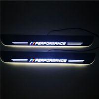 방수 이동 LED 환영 페달 자동차 스캔 플레이트 페달 문 Sill Pathway Light BMW 3Series F30 F31 F32 2012-2017