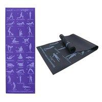 6mm PVC Kaymaz Halı Spor Cimnastik pozisyonu Picture Geri Pose Yoga Minderi Acemi Çevre Spor Jimnastik Minderleri
