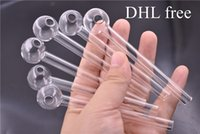 DHL 4inch Length Pyrex Glass Oil Burner Pipe Clear Cheap Gla...