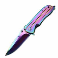 Cuchillo plegable BenchmaedDA95 Browning del bolsillo de la lámina aguda mango de madera herramientas táctico de la supervivencia que acampa cuchillos al aire libre envío libre