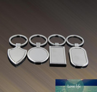 Anillos de llave de metal Tag en blanco Llavero Coche creativo Personalizado Acero inoxidable Publicidad de negocios para promoción Fábrica Precio Experto Diseño Calidad Último Estilo