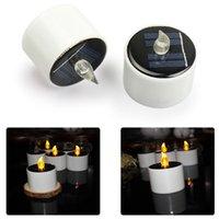 Solar-LED-Kerzen Teelichter Flameless elektrisches Warmweiß Flickering wasserdichte Outdoor-Kerzen Solar-Nachtlicht