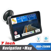Universale 7 pollici navigatore GPS per la navigazione camion dell'automobile portatile GPS Città con Bluetooth AVIN Sun Visor 256MB 8G