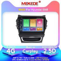 IX45 산타페 2013 2014 라디오 스테레오 탐색을위한 4G + 64G ROM 4G LTE 안드로이드 10.0 옥타 코어 자동차 DVD 플레이어 GPS