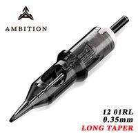 Амбиции Круглый Liner 0.35mm бровей Одноразовые татуировки иглы татуировки картридж для татуировки 20Pcs 1RL / 3RL / 5RL / 7RL / 9R CX200808
