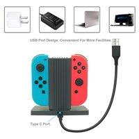 Игра Аксессуары Джойстик зарядное устройство 4 Port Dock Джокон Адаптер Контроллеры Зарядки Стенд NS Joy-Con для Nintend Switch