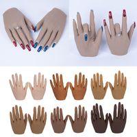 Silikon-Praxis-Hände für Nägel Lifeize-Mannequin-weibliches Modell-Displayhände Falscher Nagelfinger Nail Art Training Faux Hand