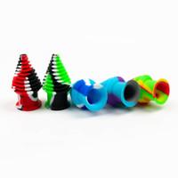 Красочные Clakefeace силиконовые фильтр Cokah Tips для кварцевого Banger Beaker Bong Водопроводная труба из стекла Курительные трубы