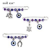 Broche Ojos Pendientes mal mal de ojo Carta seguridad de la broche de plata del color del metal del Pin Animal para las mujeres de los hombres 1pcs EY5269 accesorio de la joyería