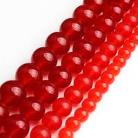 Naturale A + Rosso Calcedonio Branelli allentati di pietra rotondi per i monili che fanno 6 8 10 12 millimetri Diy Bead braccialetto monili della collana da 15 pollici