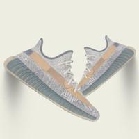 2020 zapatos corrientes de Kanye West estáticas cola Nueva Israfil Cinder Desert Sage Tierra para mujer para hombre Zebra Light Entrenadores deportivos Traducido 5-13