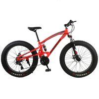 Mountain Bike 4.0 Fat Bike Mountain Bikes Duplo Disco Freios Beach By Bicicleta Bicicleta Nevoeiro Luz Carbono Aço 24/26 Polegada Bicicleta de Montanha