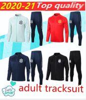 2020 2021 Espanha adulto jaqueta tracksuit camiseta españa morata a.iniesta fabregas jaqueta de futebol espanha training terno