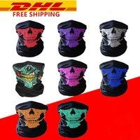 Halloween-Gesichtsmasken Festival Skeleton Schädel-Masken im Freien Motorrad-Fahrrad-Multifunktions Neck Warmer Geist Half Face magischer Schal fy6096