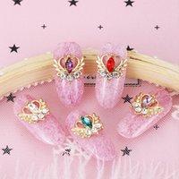 10PCs Mix Zufällige 3D Gems Strass Nails Strass Nail Art Dekorationen Stein Zubehör Zubehör Charms Schmetterling Glitter
