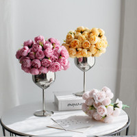 27 Peony Bouquets Fake Artificial Flower Wedding Decoration ...