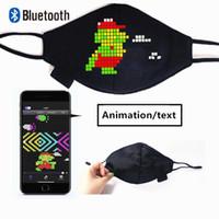Bluetooth Programable LED LED Encienda la máscara facial Luminosa para hombres Mujeres Rave Mask Music Party Christmas Halloween Luminoso Máscara LED Módulo de signo