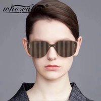 Gafas de sol que Cutie Fashion Rayas Sin montar enorme Hombres futuristas Mujeres 2021 Diseño de lentes de espejo Sombrillas Soles S104