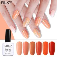 Unhas gel elite99 10ml begonia uv polonês para manicure gellak semi permanente unhas híbridas arte primer laranja cor
