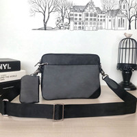 고품질 트리오 메신저 남자 크로스 바디 가방 M69443 메신저 가방 남성 패션 가방 고급 디자이너 어깨 가방 어깨 스트랩 가방