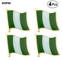 Нигерия Флаг Pin отворотом Pin Badge Брошь иконки 4PC