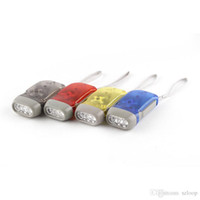 Outdoor 3 LED Mão Imprensa Lanterna Não Bateria Wind Up Crank Dynamo Lanterna Tocha clara Camping portátil Flash Light 3004017