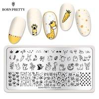 BORN PRETTY Nail Stamp Platten nette Tier Bild Nail Art Schablone Edelstahl-Blumenblumen-Spitze-Theme Nägel Stencils