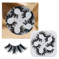 5 Pairs 25mm- 27mm Soft Fluffy 3D Mink False Eyelashes Dramat...