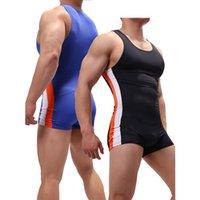 Sexy Männer Pullunder Leotard Bodysuits Jumpsuits One-piece-Strampler Wrestling Singlet-Unterwäsche-Boxer U Convex Pouch CX200817