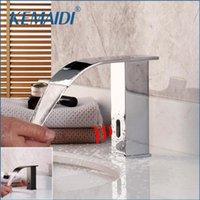 Смесители раковины ванной Kemaidi Black ORB Автоматический сенсорный кран бассейна Chrome латунный холодный водяной смеситель без сенсорного инфракрасного крана