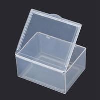 pequena caixa de plástico 5.5 * 4.3 * 2,2 centímetros PP armazenamento coleções Container Box Caso Sundries caixa de plástico transparente retangular
