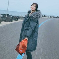 Thicken Warm Fur Collar Winter Jacket Women Casual Medium Long Hooded Down Parkas Coat Female Office Lady