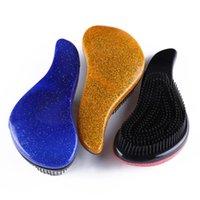 1pc Sihirli Tarak Anti-statik Masaj Saç Fırçası Plastik Duş Şampuan Masaj Tarak Salon Güzellik Saç Şekillendirme Araçları